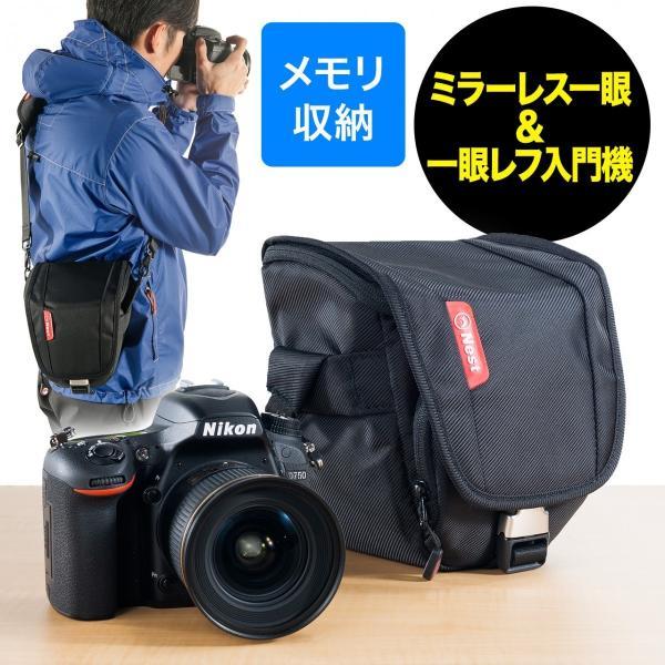 カメラバッグ 一眼レフ ショルダー(即納)|sanwadirect|14