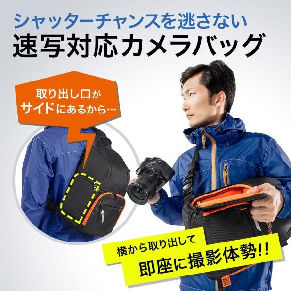 カメラバッグ 一眼レフ ショルダー 速写対応 カメラ スリング バッグ カメラバック(即納)|sanwadirect|02