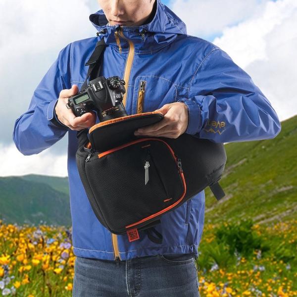 カメラバッグ 一眼レフ ショルダー 速写対応 カメラ スリング バッグ カメラバック(即納)|sanwadirect|18