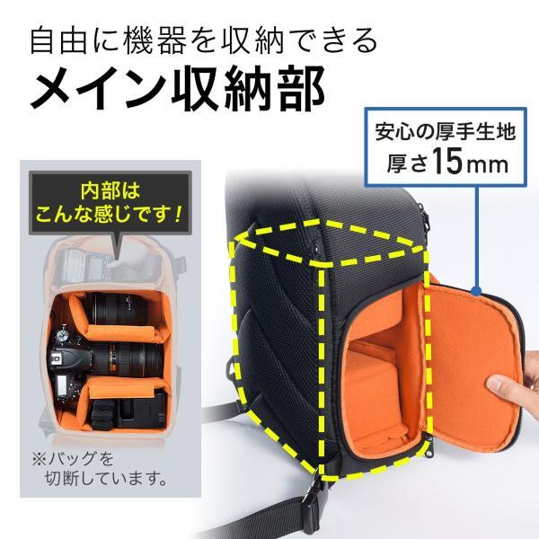 カメラバッグ 一眼レフ ショルダー 速写対応 カメラ スリング バッグ カメラバック(即納)|sanwadirect|03