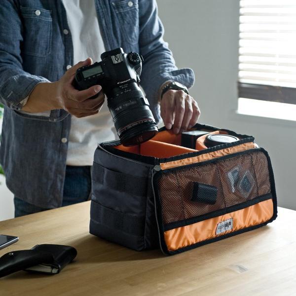 カメラケース 一眼レフ ミラーレス一眼 カメラバッグ インナーボックス バッグ アルファ 保管用 MA-1生地|sanwadirect|11