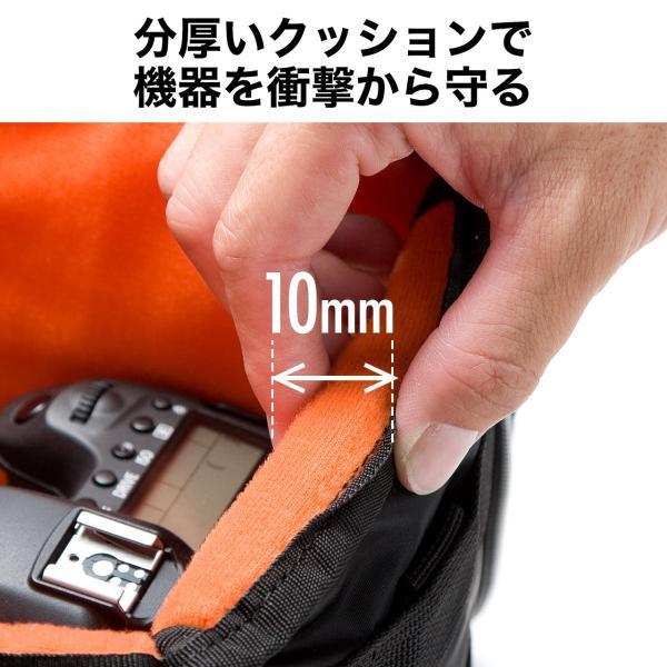 カメラケース 一眼レフ ミラーレス一眼 カメラバッグ インナーボックス バッグ アルファ 保管用 MA-1生地|sanwadirect|04