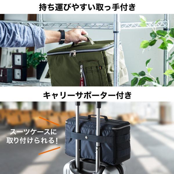 カメラケース 一眼レフ ミラーレス一眼 カメラバッグ インナーボックス バッグ アルファ 保管用 MA-1生地|sanwadirect|07