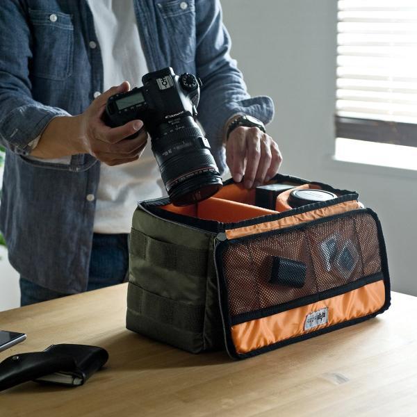 カメラケース 一眼レフ ミラーレス一眼 カメラバッグ インナーボックス バッグ アルファ 保管用 MA-1生地|sanwadirect|09
