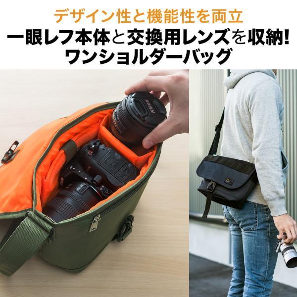 バッグ メンズ メッセンジャー バッグ カメラバッグ 一眼レフ アルファ 斜め掛け 鞄 かばん 肩掛け(即納)|sanwadirect|02