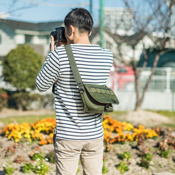 バッグ メンズ メッセンジャー バッグ カメラバッグ 一眼レフ アルファ 斜め掛け 鞄 かばん 肩掛け(即納)|sanwadirect|12
