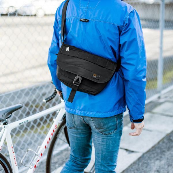 バッグ メンズ メッセンジャー バッグ カメラバッグ 一眼レフ アルファ 斜め掛け 鞄 かばん 肩掛け(即納)|sanwadirect|17
