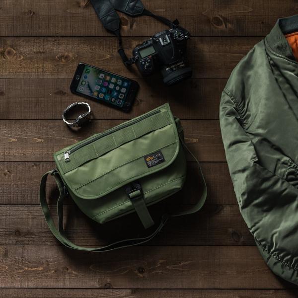 バッグ メンズ メッセンジャー バッグ カメラバッグ 一眼レフ アルファ 斜め掛け 鞄 かばん 肩掛け(即納)|sanwadirect|19