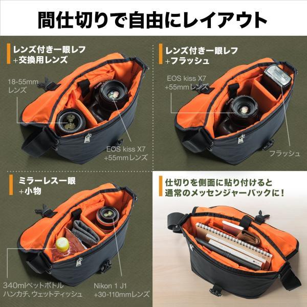 バッグ メンズ メッセンジャー バッグ カメラバッグ 一眼レフ アルファ 斜め掛け 鞄 かばん 肩掛け(即納)|sanwadirect|05