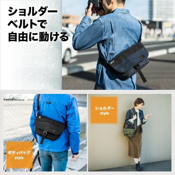 バッグ メンズ メッセンジャー バッグ カメラバッグ 一眼レフ アルファ 斜め掛け 鞄 かばん 肩掛け(即納)|sanwadirect|07