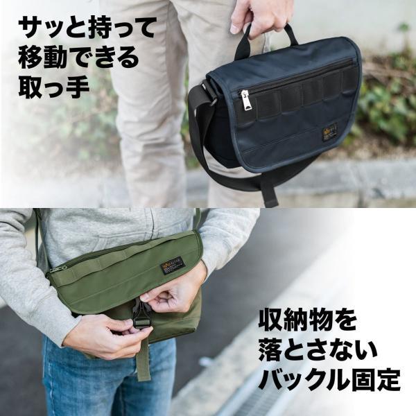 バッグ メンズ メッセンジャー バッグ カメラバッグ 一眼レフ アルファ 斜め掛け 鞄 かばん 肩掛け(即納)|sanwadirect|08