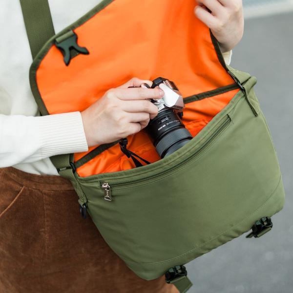 カメラバッグ 一眼レフ カメラ 大容量 ショルダー ミラーレス一眼 アルファ メッセンジャー 斜め掛け 鞄 かばん 肩掛け(即納)|sanwadirect|14
