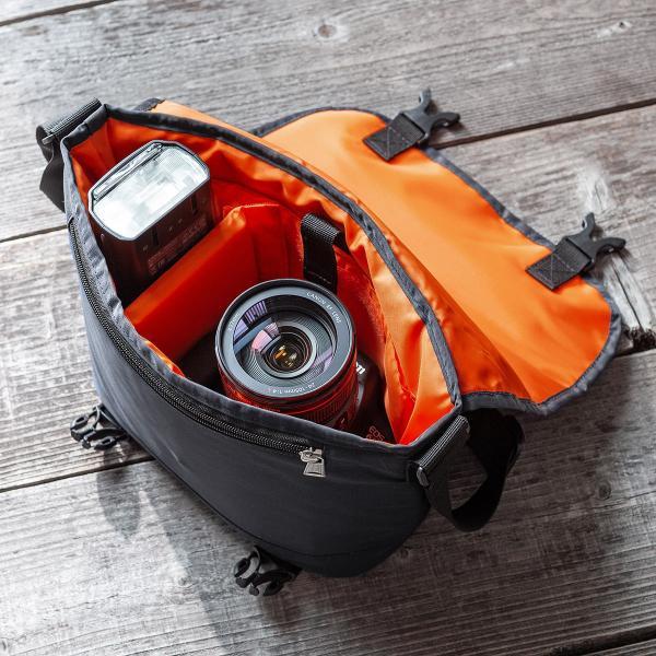 カメラバッグ 一眼レフ カメラ 大容量 ショルダー ミラーレス一眼 アルファ メッセンジャー 斜め掛け 鞄 かばん 肩掛け(即納)|sanwadirect|18