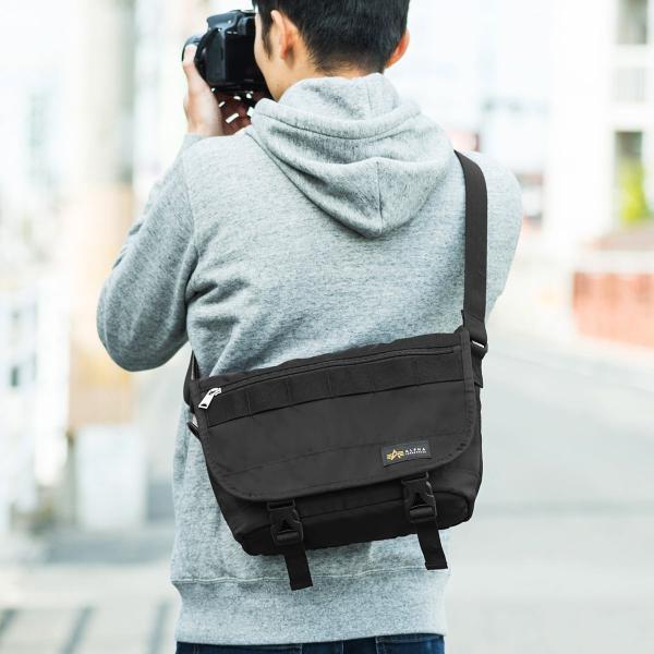カメラバッグ 一眼レフ カメラ 大容量 ショルダー ミラーレス一眼 アルファ メッセンジャー 斜め掛け 鞄 かばん 肩掛け(即納)|sanwadirect|19