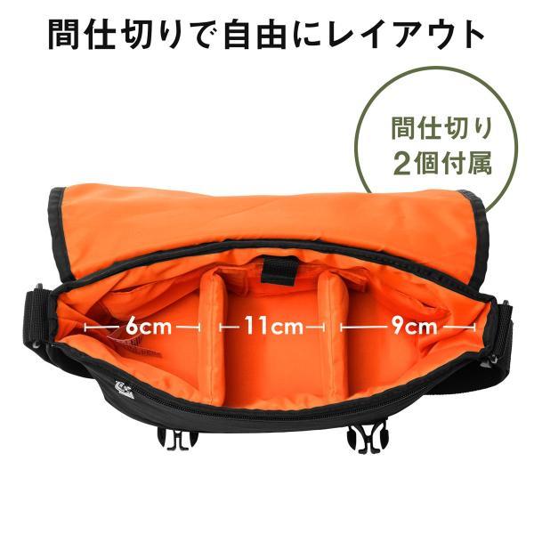 カメラバッグ 一眼レフ カメラ 大容量 ショルダー ミラーレス一眼 アルファ メッセンジャー 斜め掛け 鞄 かばん 肩掛け(即納)|sanwadirect|06