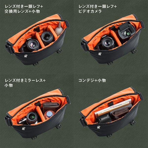 カメラバッグ 一眼レフ カメラ 大容量 ショルダー ミラーレス一眼 アルファ メッセンジャー 斜め掛け 鞄 かばん 肩掛け(即納)|sanwadirect|07