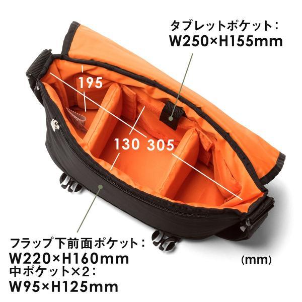 カメラバッグ 一眼レフ カメラ 大容量 ショルダー ミラーレス一眼 アルファ メッセンジャー 斜め掛け 鞄 かばん 肩掛け(即納)|sanwadirect|10