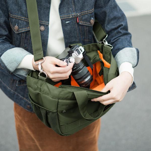 カメラバッグ 一眼レフ ショルダー カメラ 大容量 ミラーレス一眼 アルファ トート 斜め掛け 鞄 かばん 肩掛け(即納)|sanwadirect|16