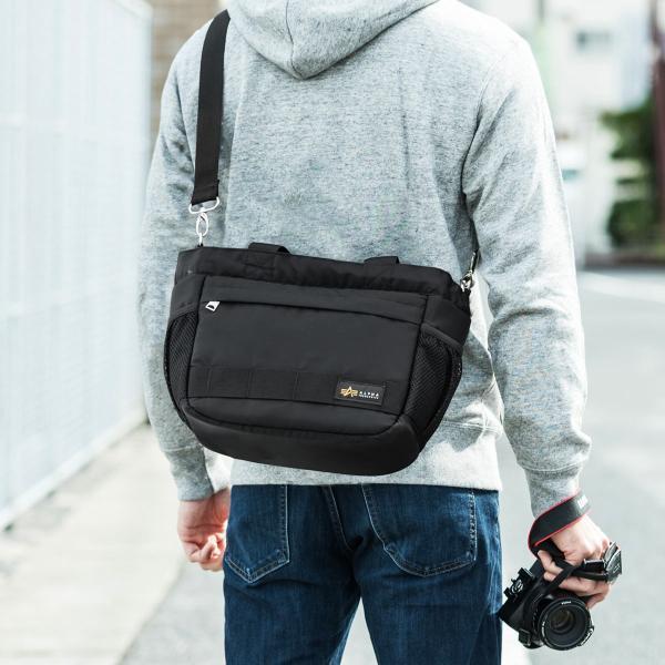 カメラバッグ 一眼レフ ショルダー カメラ 大容量 ミラーレス一眼 アルファ トート 斜め掛け 鞄 かばん 肩掛け(即納)|sanwadirect|19
