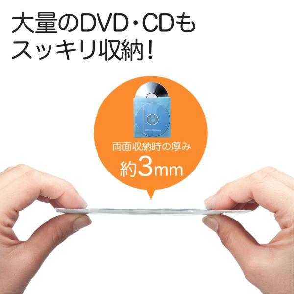 CDケース DVDケース 不織布ケース 両面収納 ホワイト 紙のように軽量 スリム(即納)|sanwadirect|02