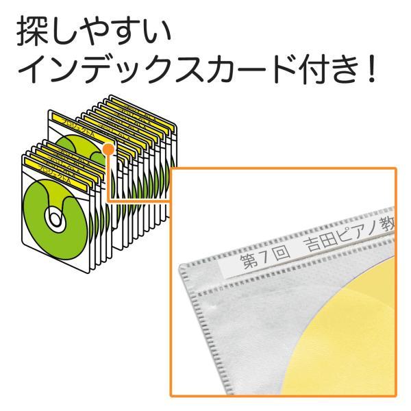 CDケース DVDケース 不織布ケース 両面収納 ホワイト 紙のように軽量 スリム(即納)|sanwadirect|04