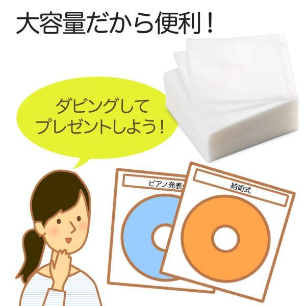 CDケース DVDケース 不織布ケース 両面収納 ホワイト 紙のように軽量 スリム(即納)|sanwadirect|05