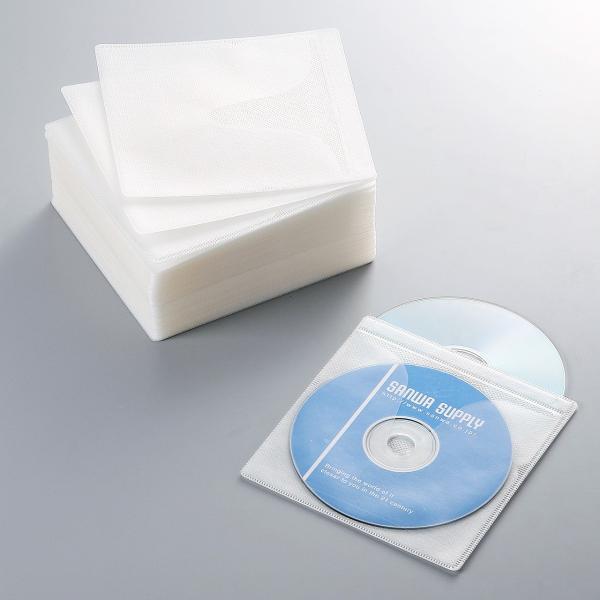 CDケース DVDケース 不織布ケース 両面収納 ホワイト 紙のように軽量 スリム(即納)|sanwadirect|06