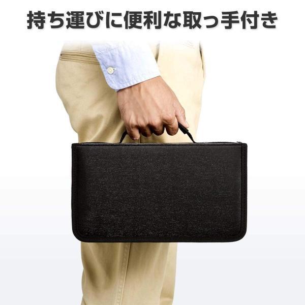 DVDケース CDケース 収納 キャリングケース 96枚 持ち運び 収納ケース(即納)|sanwadirect|06