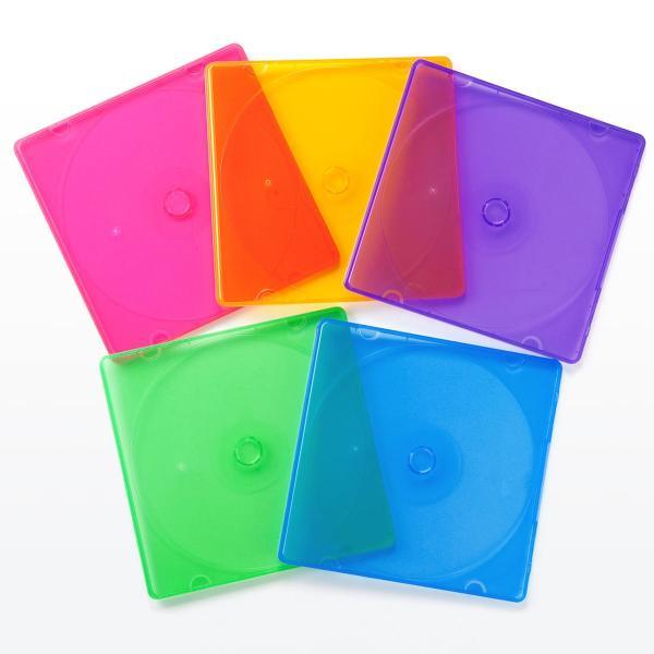 CDケース DVDケース スリム 収納ケース 25個セット(即納)|sanwadirect|13