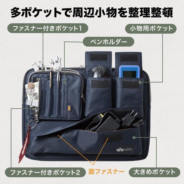 ノートパソコン ケース 13.3インチ ALPHA  A4 2WAYバッグ バック PCバッグ(即納)|sanwadirect|04