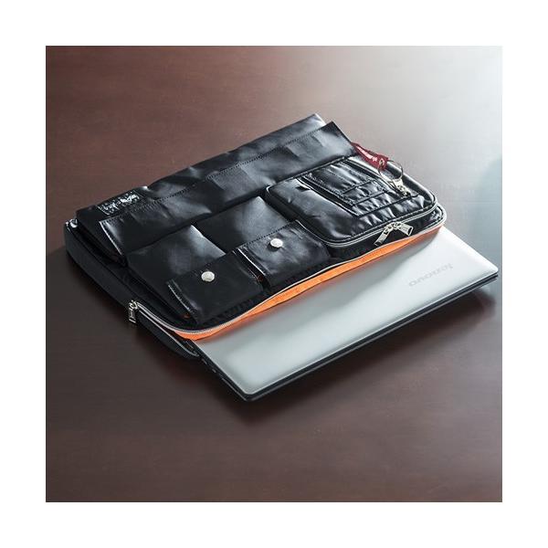 ノートパソコン ケース 15.6インチ ALPHA  A4 2WAYバッグ バック PCバッグ(即納)|sanwadirect|15