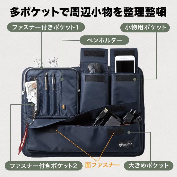 ノートパソコン ケース 15.6インチ ALPHA  A4 2WAYバッグ バック PCバッグ(即納)|sanwadirect|04