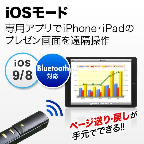 レーザーポインター グリーン レーザー パワーポイント Bluetooth 4.0 レーザーポインタ(即納)|sanwadirect|02