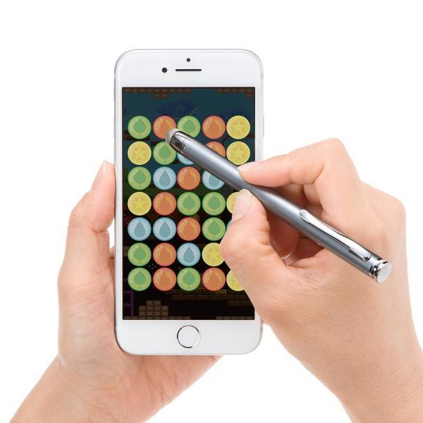 タッチペン スマートフォン/タブレット iPhone/iPad 導電繊維 スタイラスペン(即納)|sanwadirect|11