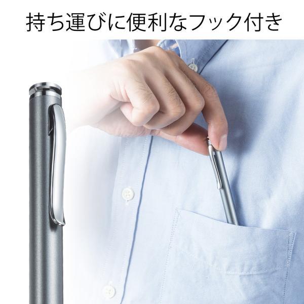 タッチペン スマートフォン/タブレット iPhone/iPad 導電繊維 スタイラスペン(即納)|sanwadirect|04