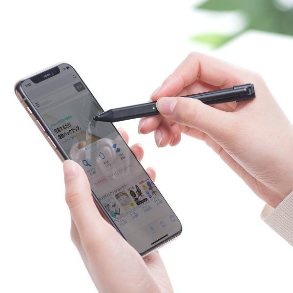 タッチペン スマホ iPhone 充電式タッチペン スタイラスペン 充電式 microUSB 充電 薄型 アイフォン iPad(即納)|sanwadirect|18