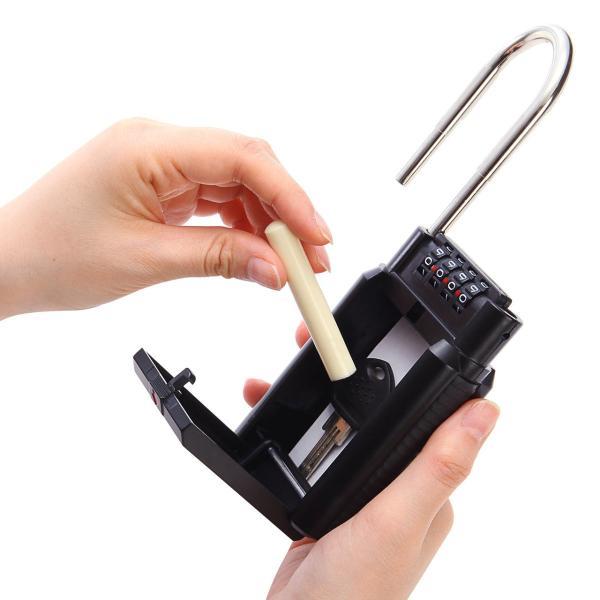 キーボックス 鍵 収納 BOX ダイヤル式 キーバンカー(即納)|sanwadirect|13