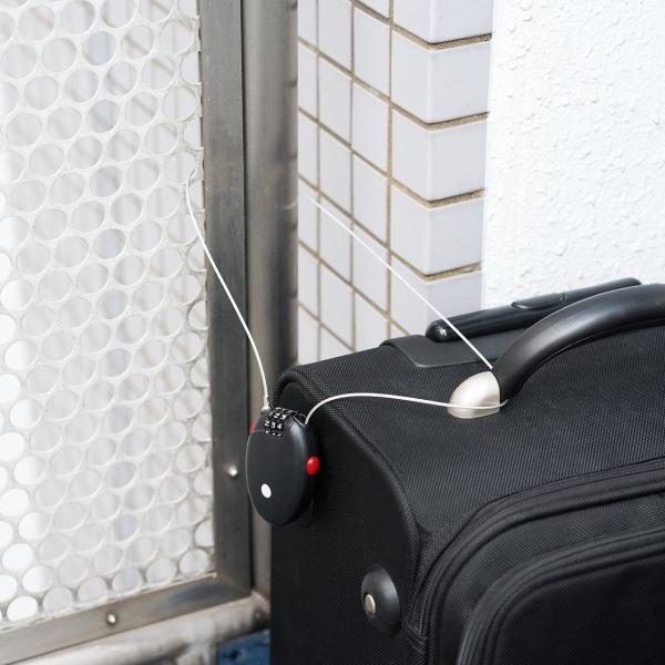 ワイヤーロック錠 盗難防止 巻き取り セキュリティー ワイヤー ダイヤル錠(即納)|sanwadirect|14