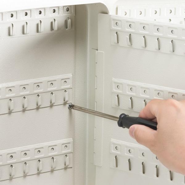 キーボックス 壁掛け 93本収納 鍵付き セキュリティー タグ付き(即納)|sanwadirect|10