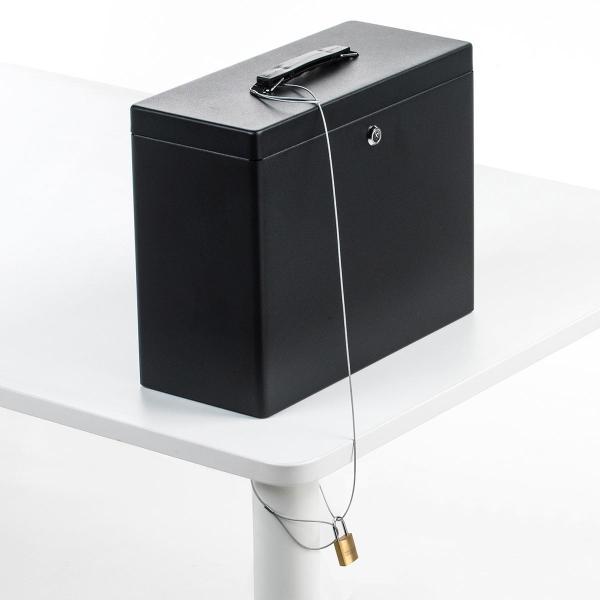 鍵付きファイルボックス 鍵付き ボックス マイナンバー対策に 書類 入れ A4ファイル 収納 セキュリティボックス(即納) sanwadirect 12