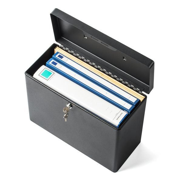 鍵付きファイルボックス 鍵付き ボックス マイナンバー対策に 書類 入れ A4ファイル 収納 セキュリティボックス(即納) sanwadirect 15