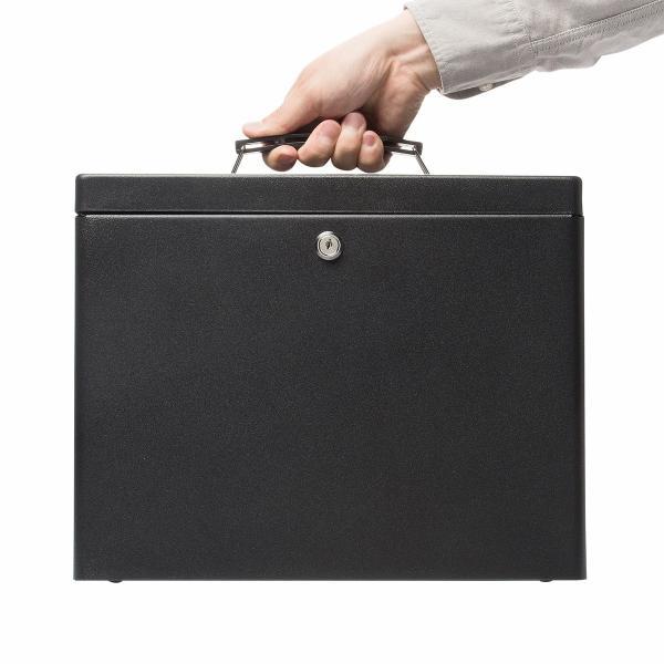 鍵付きファイルボックス 鍵付き ボックス マイナンバー対策に 書類 入れ A4ファイル 収納 セキュリティボックス(即納) sanwadirect 10
