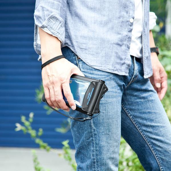 スマホ 防水ケース iPhone 小物ポケット(即納)|sanwadirect|08