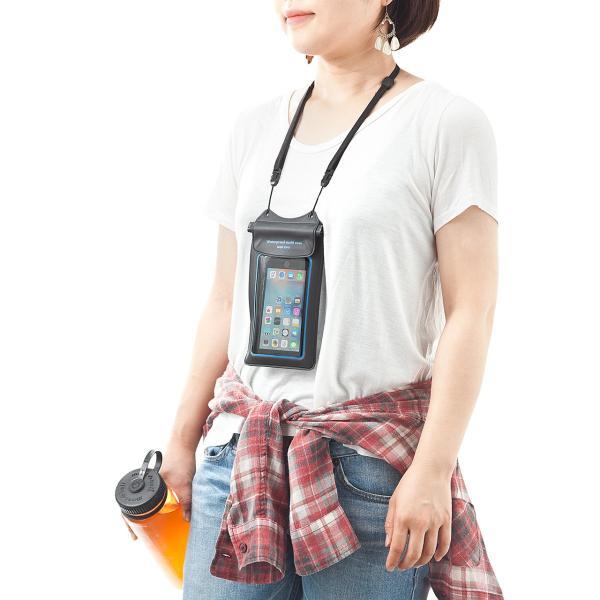 スマホ 防水ケース iPhone 小物ポケット(即納)|sanwadirect|09