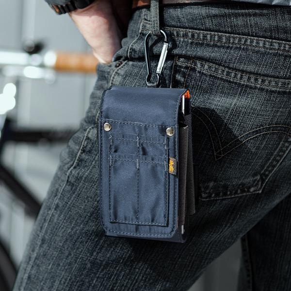 ベルトポーチ メンズ スマホ iPhone ベルトケース ヒップバック 収納ポーチ iQOS デジカメ カラビナ付 MA-1生地 ダブルタイプ (即納)|sanwadirect|18