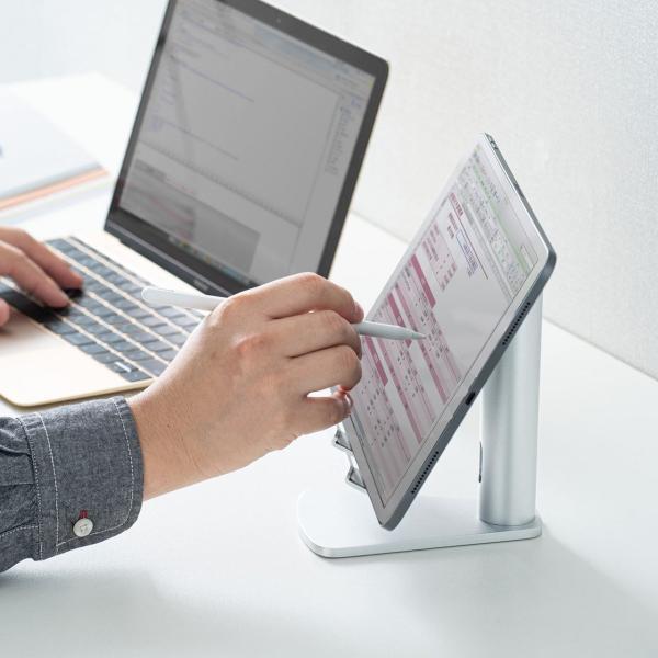 ノートパソコン スタンド ノートPC アルミ Macbook Air(即納)|sanwadirect|12