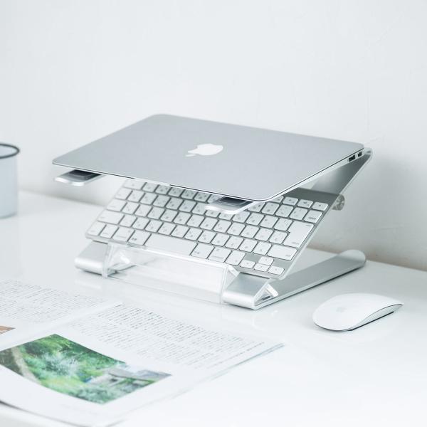 ノートパソコン スタンド アルミ ノートPC MacBook 放熱(即納)|sanwadirect|11