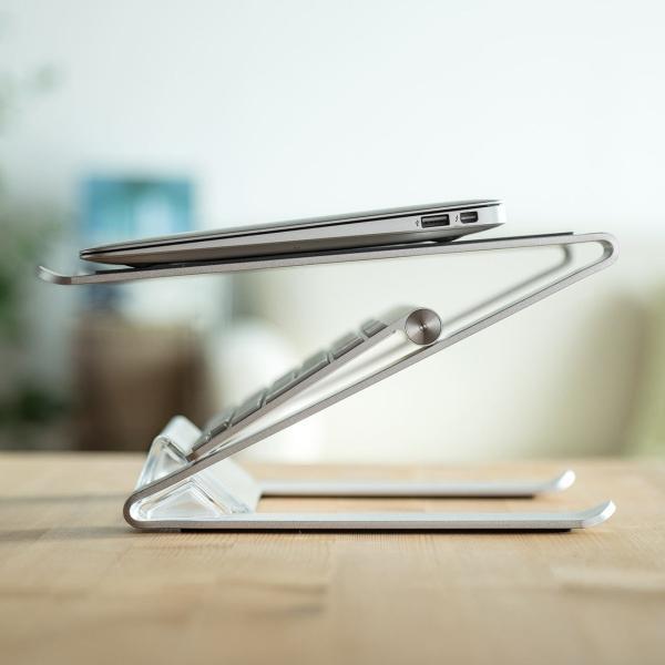 ノートパソコン スタンド アルミ ノートPC MacBook 放熱(即納)|sanwadirect|12