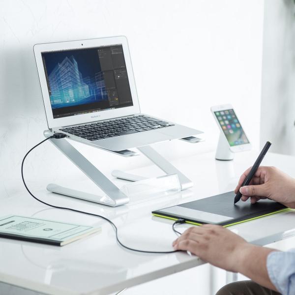 ノートパソコン スタンド アルミ ノートPC MacBook 放熱(即納)|sanwadirect|17