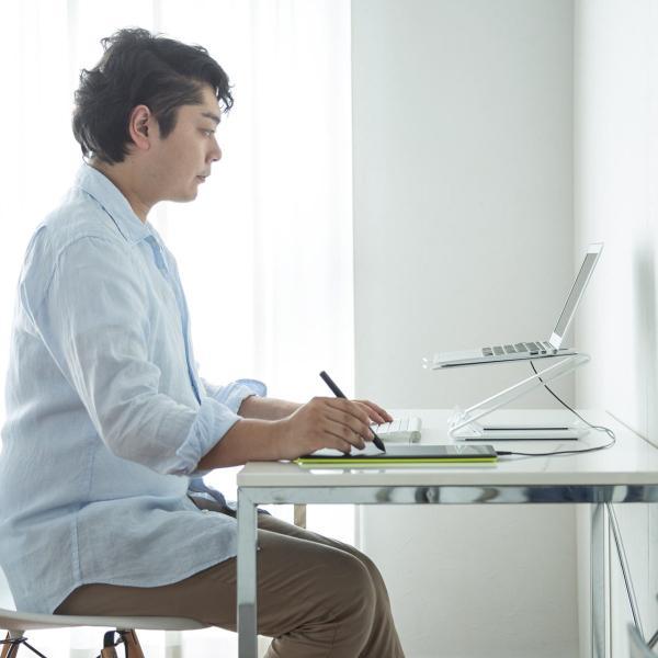 ノートパソコン スタンド アルミ ノートPC MacBook 放熱(即納)|sanwadirect|10